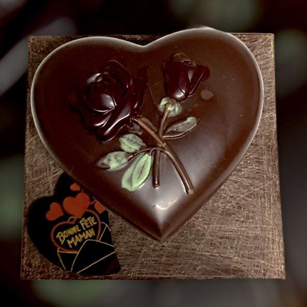 Coeur noir Fête des Mères